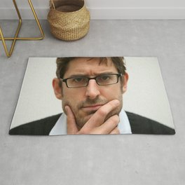 Louis Theroux, from the BBC 2019 Rug