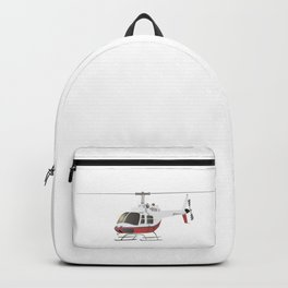 White and Red Helicopter Backpack