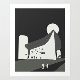 Le Corbusier - Chapelle Notre-Dame du Haut de Ronchamp Art Print
