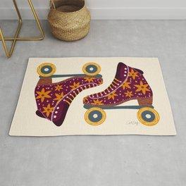 Retro Roller Skates – Fuchsia & Orange Rug