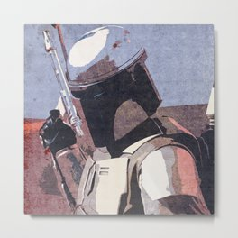 Bobba Fett | The Bounty Hunter | Star War Art Metal Print