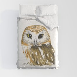 I Came, I Saw-whet, I Conquered (Northern Saw-whet Owl) Comforters