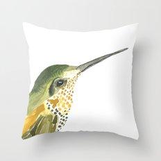 Golden Beauty Hummingbird Throw Pillow