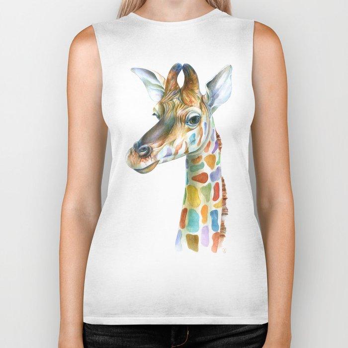 Giraffe Biker Tank