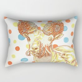 Ammonite Sheep Rectangular Pillow