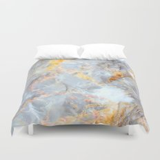 Grey & Gold Marble Duvet Cover