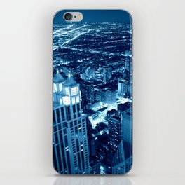 Chicago Nights Blue iPhone Skin