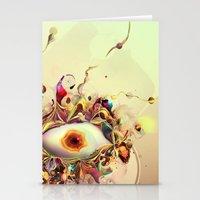 third eye Stationery Cards featuring Third Eye by Igor Šćekić