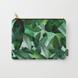 Banana palm leaf tropical jungle green Carry-All Pouch