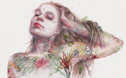 Art Print - Leaves on Skin - agnes-cecile