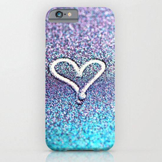 glitter heart- photograph of glitter  iPhone & iPod Case