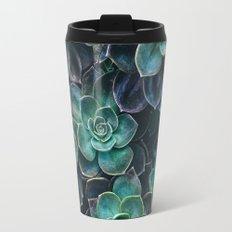Succulent Blue Green Plants Travel Mug