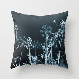 Still of the Night. Dark Floral Throw Pillow