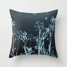Still of the Night. Dark Floral Throw Pillow