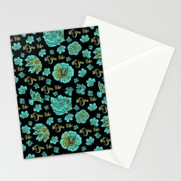 Funky 'Not Your Babe' floral print Stationery Cards