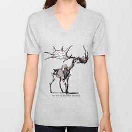 Irish Elk Skeleton Unisex V-Neck