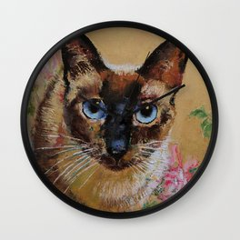 Siamese Cat Wall Clock