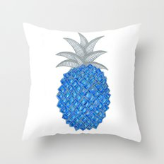 Blue Pineapple because Pineapples are blue now Throw Pillow