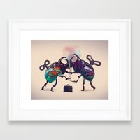 fight Framed Art Prints featuring Fight by Tanya_tk