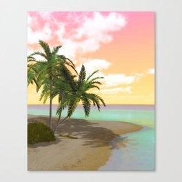 Dreamy Desert Island Canvas Print