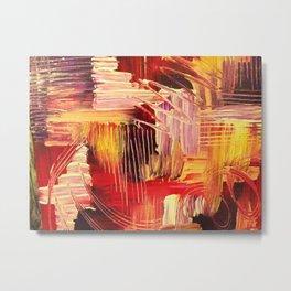 RHAPSODY IN MAGENTA- Beautiful BOLD Modern Abstract Wild Acrylic Painting Crimson Hot Pink Purple Metal Print