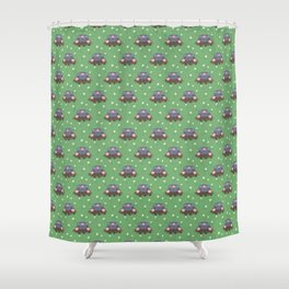 Cute little moles Shower Curtain
