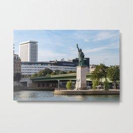 Replica of the Statue of Liberty in Paris Metal Print