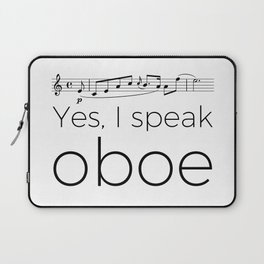 I speak oboe Laptop Sleeve
