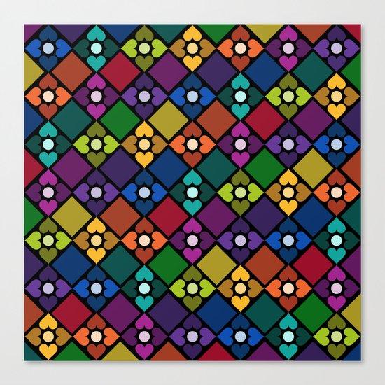Colorful Floral Pattern Canvas Print