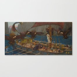 Ulysses and the Sirens by John William Waterhouse Canvas Print