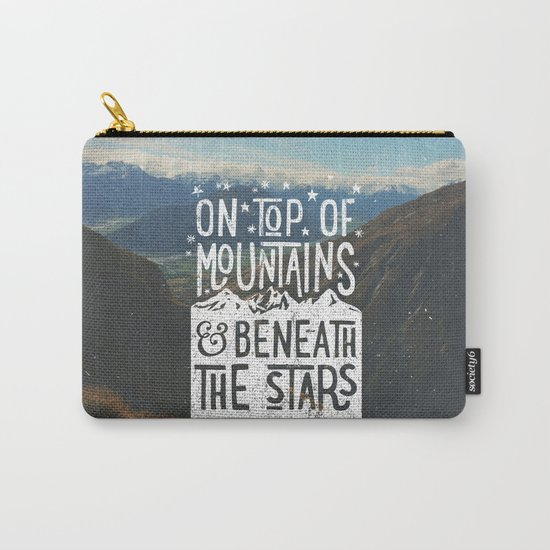 on top of mountain and beneath the stars Carry-All Pouch