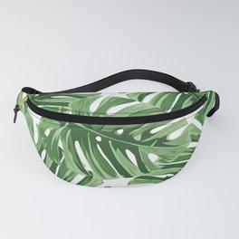 Tropical Watercolor Jungle Leaf Fanny Pack