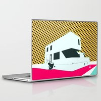 bauhaus Laptop & iPad Skins featuring Bauhaus Meisterhaus Pop 2 by Marko Köppe