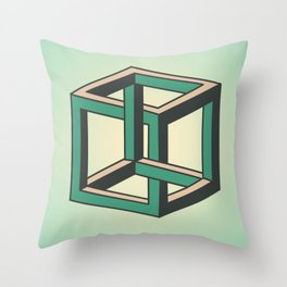 Impossible Cube Throw Pillow