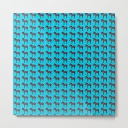 Blue Zebra Design Metal Print