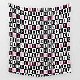 Love Typographic Concept Geometric Pattern Wall Tapestry