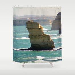 Limestone Rock Stacks Shower Curtain