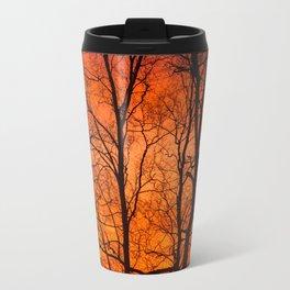 Leafless Trees At October Sunrise #decor #buyart #society6 Metal Travel Mug