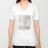 minimalism V-neck T-shirts featuring Minimalism. by Viviana Gonzalez