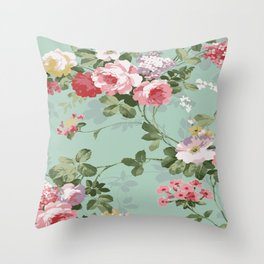 MRSF Floral Throw Pillow