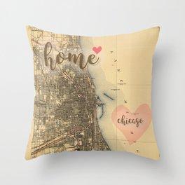 Love Chicago Throw Pillow