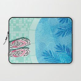 Go Time - resort palm springs poolside oasis swimming athlete vacation topical island summer fun Laptop Sleeve