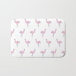Flamingos // Simple Pattern Bath Mat