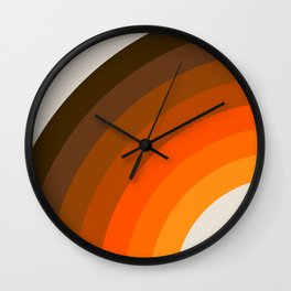 Retro Golden Rainbow - Left Side Wall Clock
