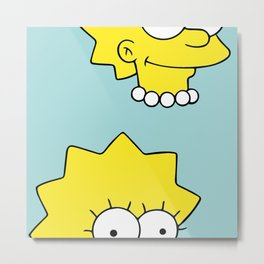 Lisa the Simpson Metal Print