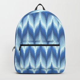 Bargello Pattern in Blue and White Backpack