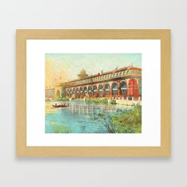 Chicago 1893 World's Fair, Red and Gold Transportation Building Framed Art Print