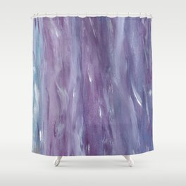 Touching Purple Blue Watercolor Abstract #1 #painting #decor #art #society6 Shower Curtain