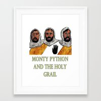 monty python Framed Art Prints featuring Monty Python and the Holy Grail by AdrockHoward