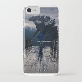 Close Encounter with Godzilla in Lake 3 iPhone Case